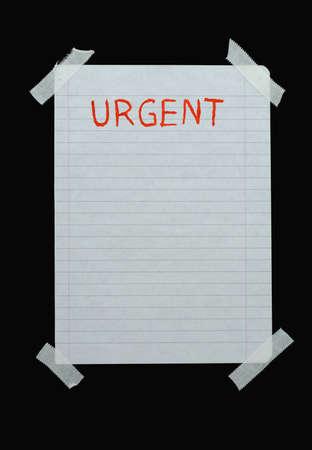 memorise: space for urgent notes