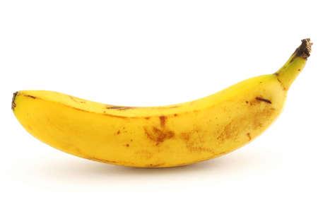 ripe banana on white