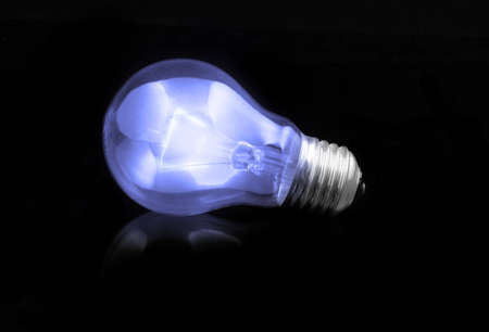 blue light bulb Stock Photo - 612923