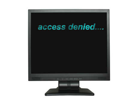 by the lcd screen: lcd screen with access denied inscription