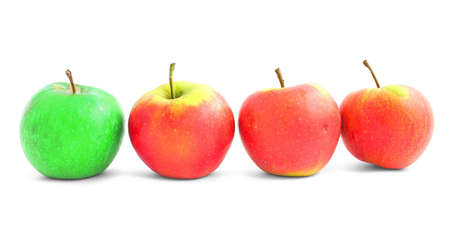 individualist: apple diversity isolated on white background