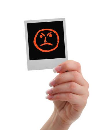 lugubrious: sorry I am mad today Stock Photo