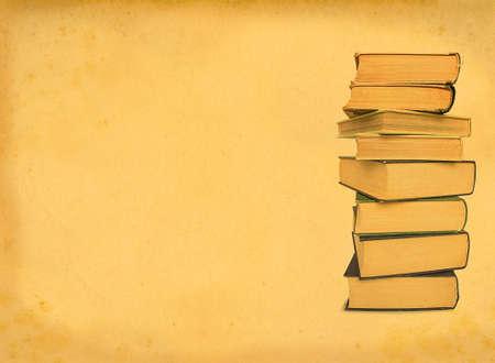 scabrous: antique books on retro background