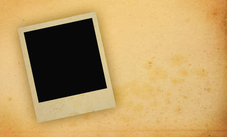 yellowed: photo frame with yellowed copy space