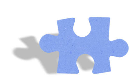 puzzle shadow: puzzle piece with shadow on white