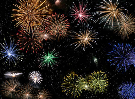 blowup: fireworks Stock Photo