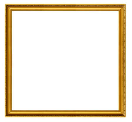 XXL size golden square frame isolated on white Stock Photo - 714647