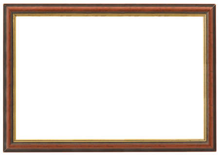 backcloth: XXL size wooden frame isolated on white Stock Photo