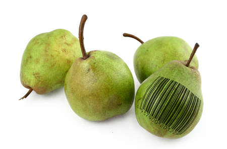 pears with bar code of non-existing product Stock Photo - 726664