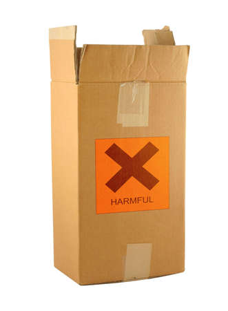 cardboard box with harmful content #2 Stock Photo - 751247