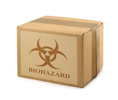 boite carton: Bo�te en carton avec Biohazard Symbole # 2