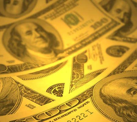 deposits: Money background with shallow DOF