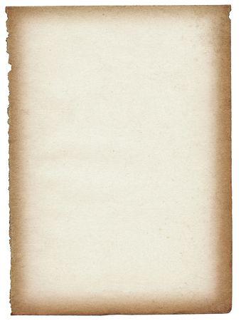 oude papier pagina geïsoleerd op witte achtergrond