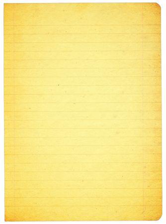 gekleurde gelinieerd papier geïsoleerd op zuivere witte achtergrond  Stockfoto