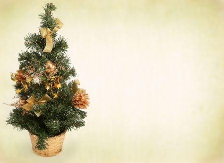 kerstboom tegen abstracte achtergrond met vignet