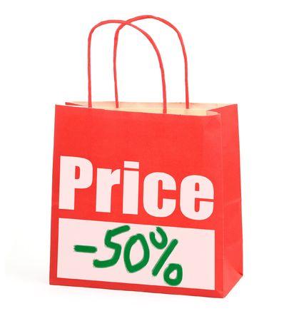 Shopping bag on white,  photo does not infringe any copyright Stock Photo - 3177981