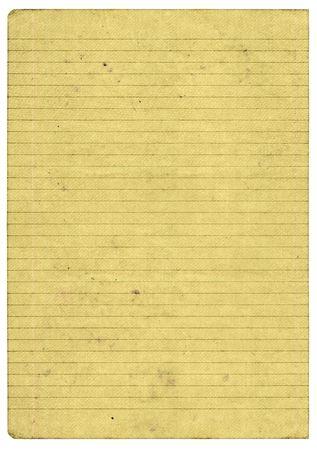 XXL maat stukje van oud papier bekleed pagina geïsoleerd op pure witte achtergrond