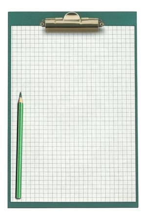 empty clipboard with pencil isolated on white Stock Photo - 3427337