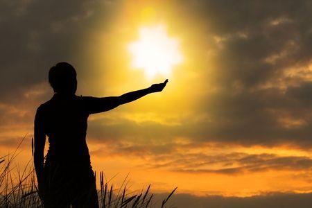 het aanraken van de hemel, persoon niet identifable