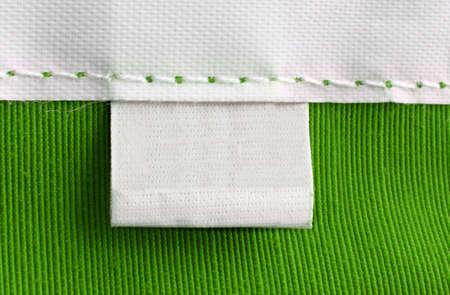 etiquetas de ropa: real macro de etiqueta en blanco