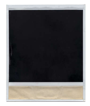 back side of a photo frame on white background, visible scratches and bits of dirt Stock Photo - 4536303