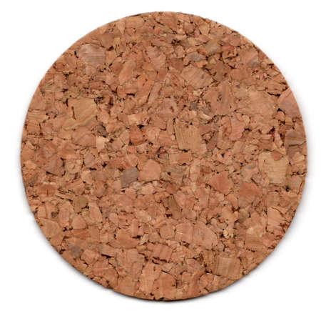 bulletinboard: cork mat isolated on white, smalll natural shadow underneath