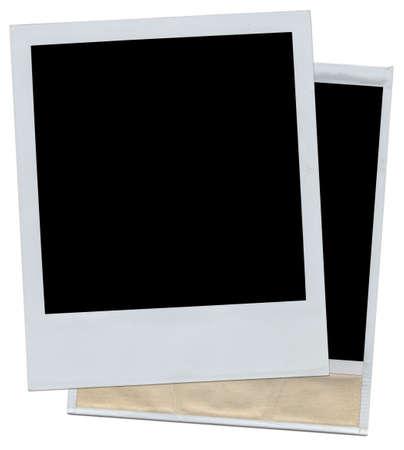 two photo frames isolated on white background Stock Photo - 4536302