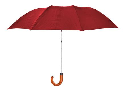 red umbrella isolated on pure  white background