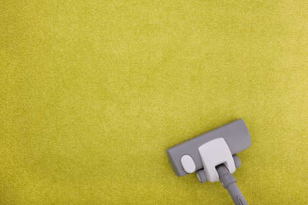 carpet wash: carpet cleaning with a vacuum cleaner Stock Photo