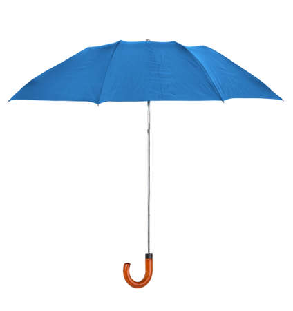 brolly: blue umbrella isolated on pure  white background