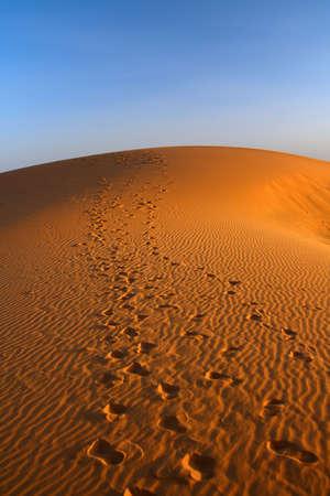 sunset over Sahara desert (Morocco) Stock Photo - 4874325