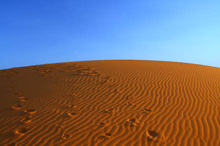 sunset over Sahara desert (Morocco) Stock Photo - 4887895