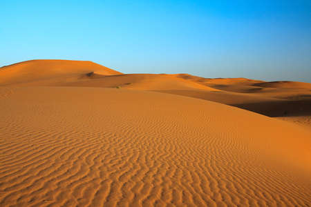 erg: sunset over sahara desert (Morocco)
