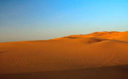 sunset over sahara desert (Morocco) Stock Photo - 5048559