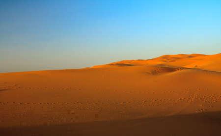 sunset over sahara desert (Morocco) Stock Photo - 5048559