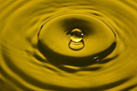 to watersplash: closeup of a water splash in yellow