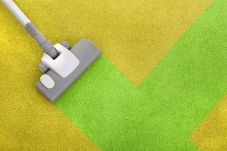 carpet cleaning with a vacuum cleaner Standard-Bild