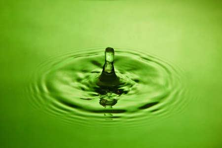 to watersplash: closeup of a water splash in green tones