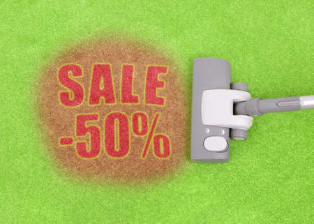 Half price sale concept, photo does not infringe any copyright