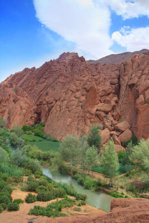 atypical: atypical oval rock formations in Dades Valley, Morocco