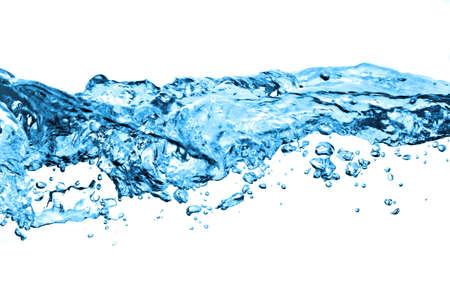 Luchtbellen in het water op wit wordt geïsoleerd Stockfoto - 5815587