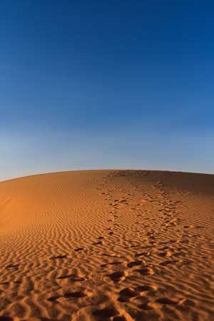 sunset over Sahara desert (Morocco) Stock Photo - 5957285