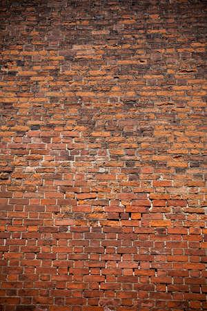 ancient brick wall: red brick wall texture Stock Photo