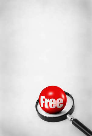 searcher: concept of free gift with grey abstract background for your text, content Stock Photo
