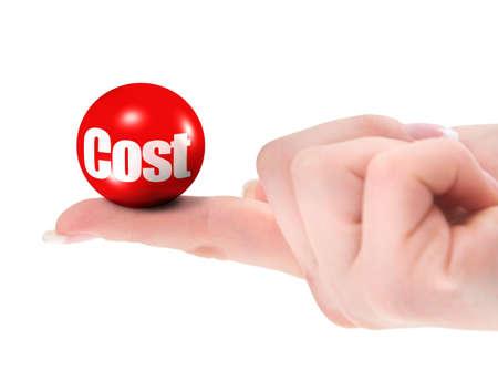 Kosten Konzept auf Finger, flachen DOF, es gibt keine Verletzung von Warenzeichen-copyright  Lizenzfreie Bilder