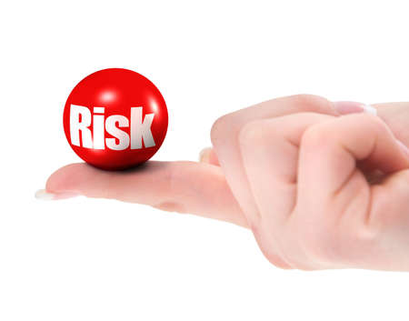 riskiness: Risk concept on finger, shallow DOF, there is no infringement of trademark copyright