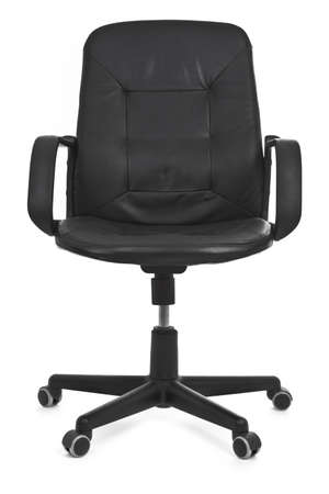asiento: silla de cuero sobre fondo blanco, m�nima sombra natural debajo de ella