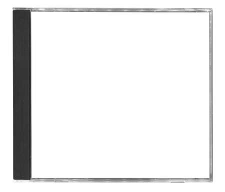 leere cd-Cover isolated on white background