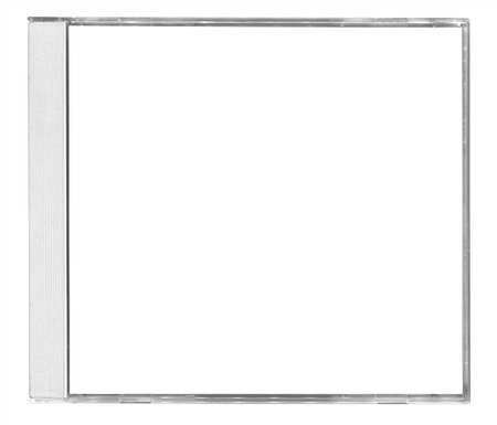 case: cubierta del cd negros aislada sobre fondo blanco