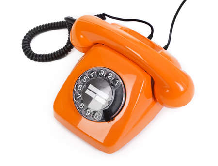classic dial phone on white background Stock Photo - 12237872